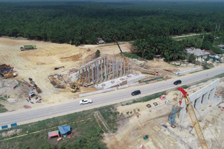 Pengerjaan Tol Pekanbaru - Dumai (Permai) oleh kontraktor PT Hutama Karya (Persero)