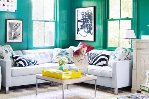 Warna Cat Biru, Hijau, dan Kuning, Cocok Sambut Lebaran