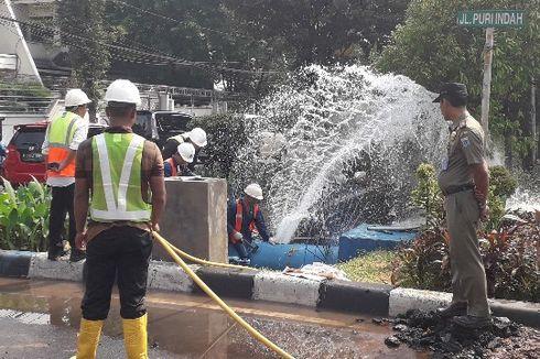 Pipa Bocor di Kembangan, Suplai Air Palyja Terganggu