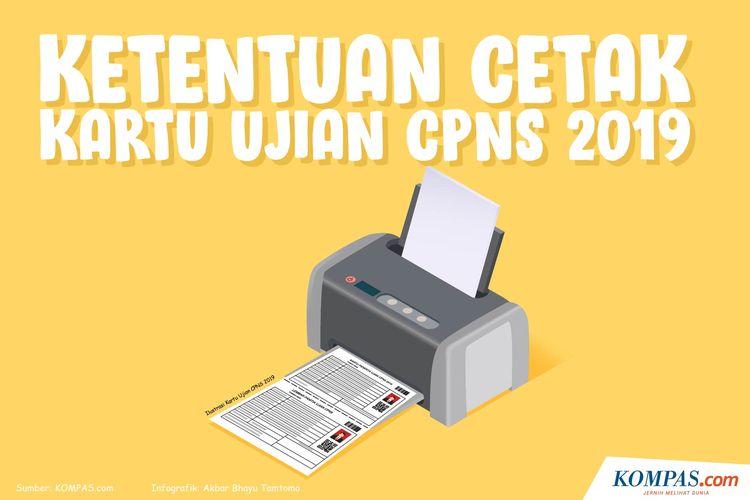 Ketentuan Cetak Kartu Ujian CPNS 2019