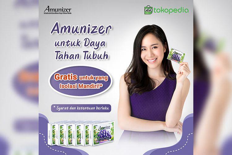 Amunizer dengan 1.000 mg vitamin C dapat menjaga daya tahan tubuh.