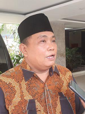 Wakil Ketua Umum Partai Gerindra Arief Poyuono mendatangi kompleks Istana Kepresidenan, Jakarta, Kamis (1/8/2019).