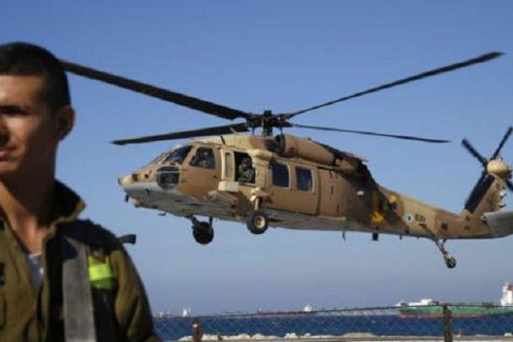 Ilustrasi helikopter Israel.