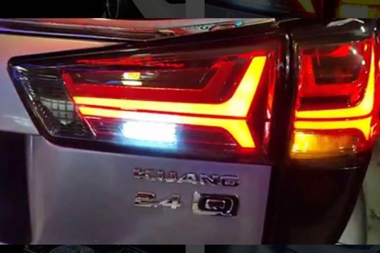 Modifikasi lampu belakang dengan sein LED