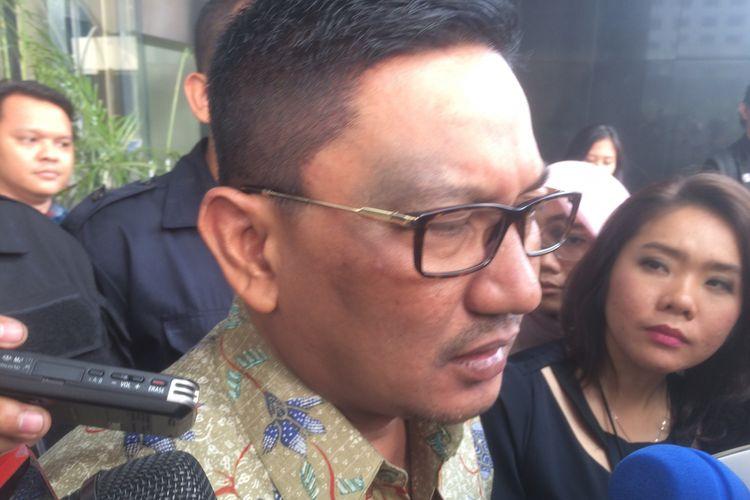Anggota Fraksi Partai Kebangkitan Bangsa (PKB) Abdul Malik Haramain diperiksa sekitar empat jam di Gedung Komisi Pemberantasan Korupsi (KPK), Senin (9/7/2018).