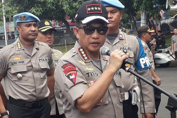 Kapolri Jendeal Tito Karnavian memberikan imbauan larangan adanya gelaran konvoi pada malam takbiran yang diprediksi terjadi pada Kamis (14/6/2018).