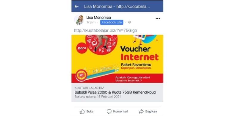 Hoaks Subsidi Pulsa Rp 200 000 Dan Kuota Internet 75 Gb Dari Kemendikbud Halaman All Kompas Com