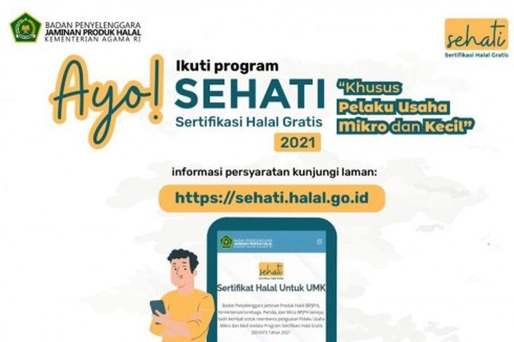 Program Sertifikasi Halal Gratis atau Sehati tahun 2021