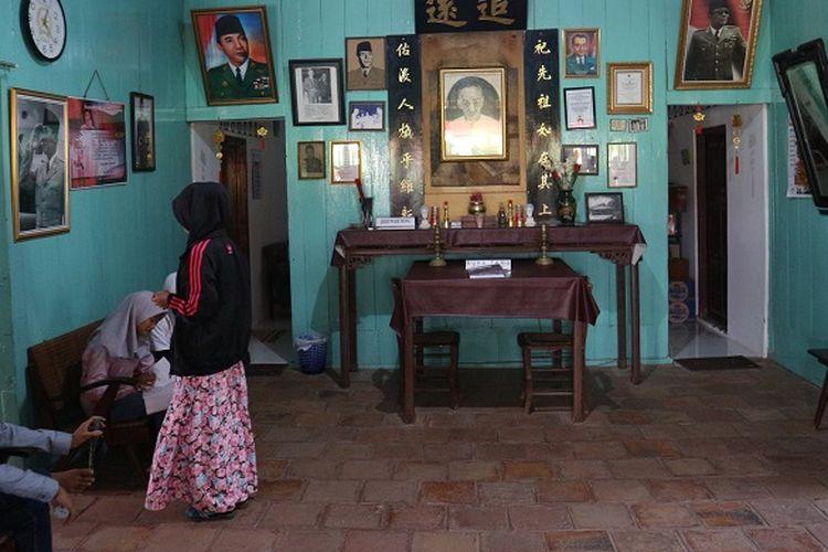 Rumah sejarah Djiauw Kie Siong di Kecamatan Rengasdengklok, Kabupaten Jawa Barat, Sabtu (19/8/2017). Rumah Djiauw Kie Siong merupakan tempat persinggahan Bung Karno dan Hatta saat dibawa oleh generasi muda pada 16 Agustus 2017.