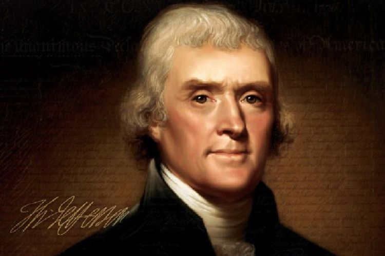 Thomas Jefferson, uno de los fundadores de Estados Unidos, fue el primer secretario de Estado y el tercer presidente de Estados Unidos.