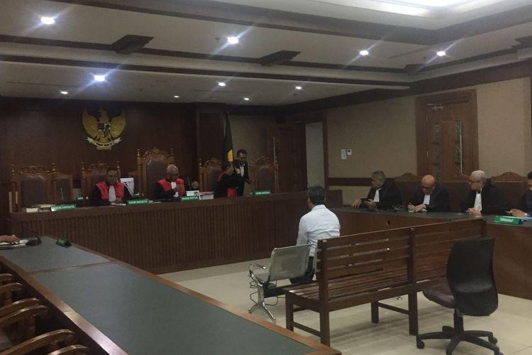 Persidangan Desrizal Chaniago di Pengadilan Negeri Jakarta Pusat, Selasa (22/10/2019).