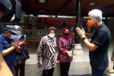 Perbincangan Satu Menit Ganjar Pranowo dan Risma di Makam Bung Karno