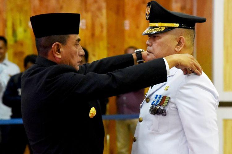 Gubernur Sumut Edy Rahmayadi Asren Nasution menjadi Penjabat Bupati Pakpak Bharat, Senin (17/1/2020)