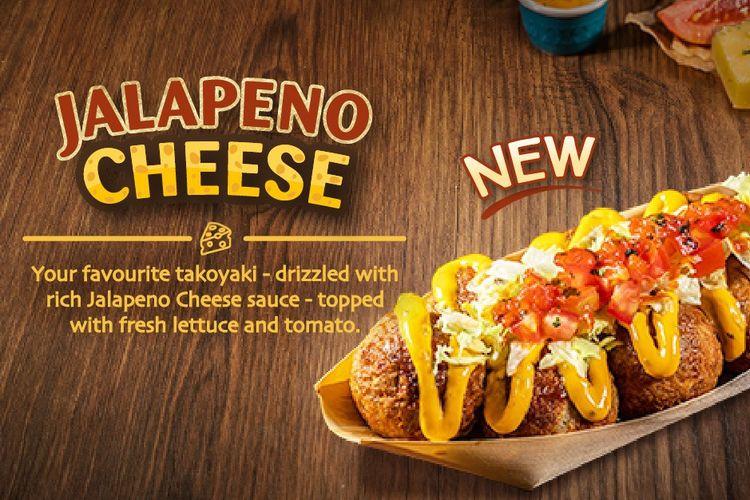 Jalapeno Cheese, menu varian baru dari GINDACO Indonesia yang dihadirkan pada hari ulang tahun pertamanya