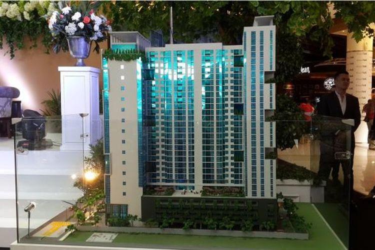 Maket Roseville SOHO & Suites milik Grup Aldebaran, di BSD City, Tangerang Selatan, Banten.