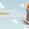 INFOGRAFIK: Daftar Sanksi bagi Pelanggar Protokol Kesehatan Saat PSBB Jakarta