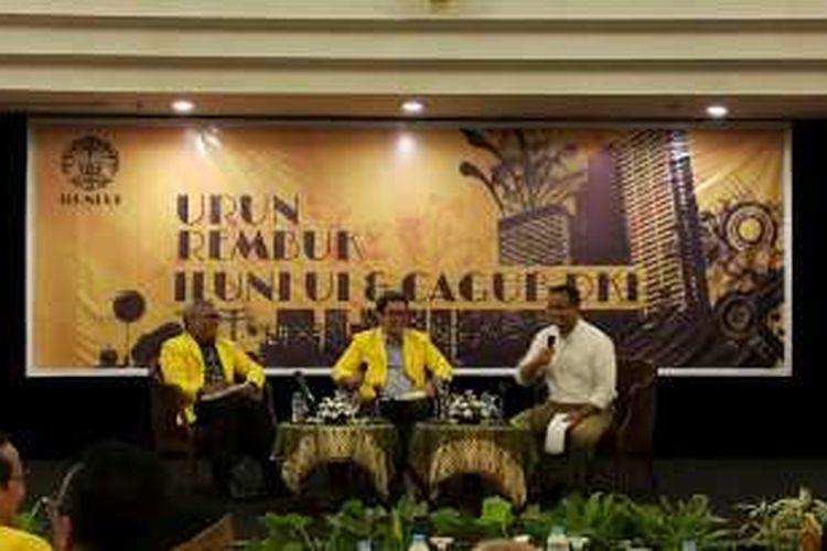 Calon gubernur DKI Jakarta Anies Baswedan menghadiri acara