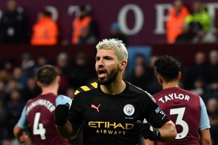 Sergio Aguero mencetak hat-trick pada laga Aston Villa vs Manchester City dalam lanjutan pekan ke-22 Liga Inggris 2019-2020.