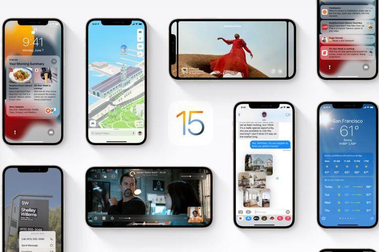 Ilustrasi iOS 15.