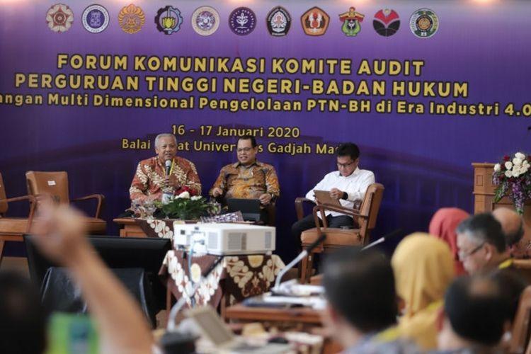 Forum Komunikasi Komite Audit PTN BH di Balai Senat UGM, Kamis (16/1/2020).