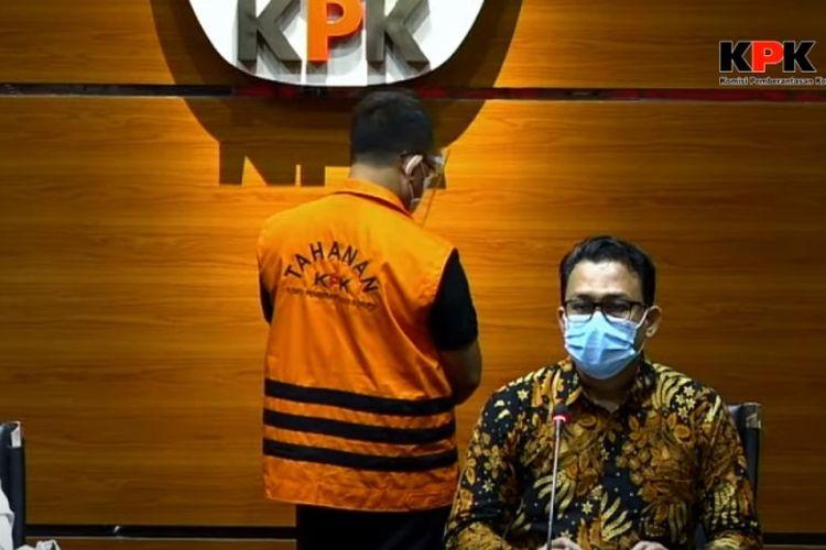 Konferensi Pers Penetapan Tersangka Bupati Muara Enim Juarsah oleh Plt Juru Bicara KPK Ali Fikri, Senin (15/2/2021)