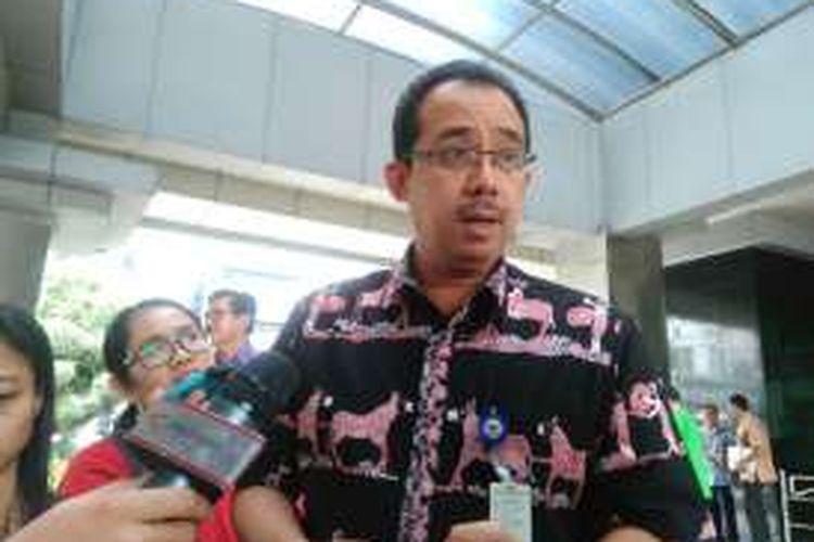 Direktur Jenderal Bea Cukai, Kementerian Keuangan, Heru Pambudi, di Kantor Kementerian Keuangan, Jakarta, Jumat (17/6/2016). Pemerintah menargetkan pembangunan Pusat Logistik Berikat sebanyak 50 unit hingga akhir 2016.