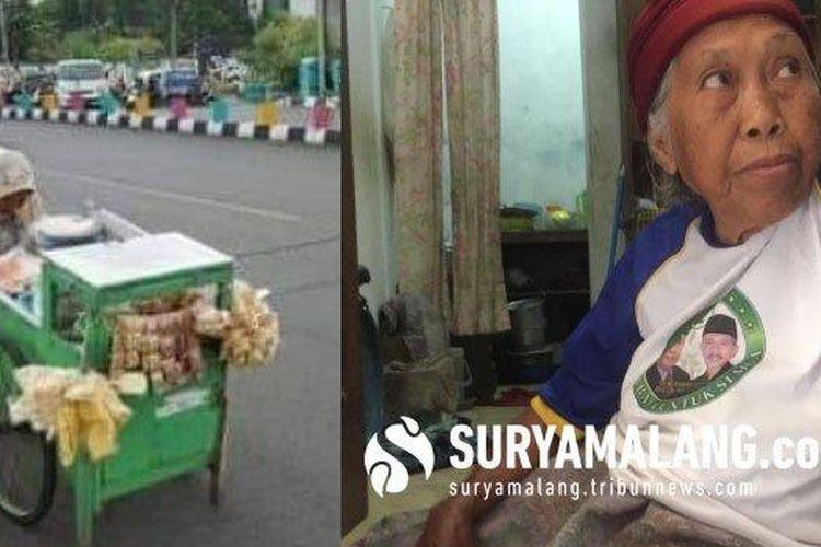 Nenek atau Mbah Hawati, korban pencurian di masjid Dinoyo Surabaya.