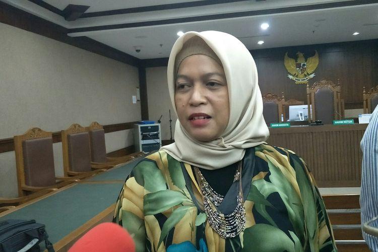 Kuasa Hukum Lutfi Alfiandi, Sutra Dewi saat di PN Jakpus, Rabu (8/1/2020).