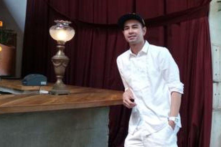 Raffi Ahmad dalam wawancara di kawasan SCBD, Jakarta Selatan, Rabu (15/10/2014).