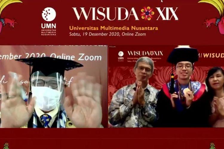 Rektor UMN Ninok Leksono saat acara Wisuda UMN XIX.