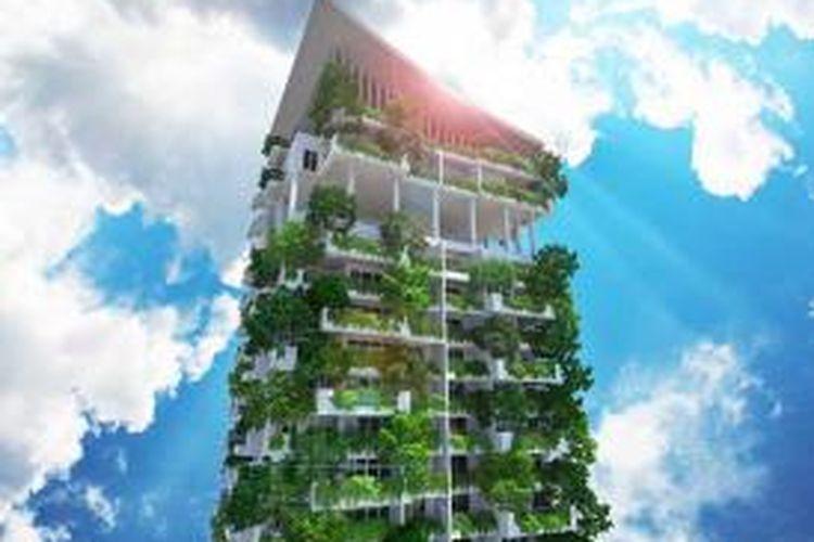 Sri Lanka akan memiliki hunian lengkap dengan taman vertikal yang berlokasi tidak jauh dari Ibukota Colombo, bernama