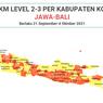 Peta dan Referensi Ketentuan PPKM Level 2-3 Jawa Bali Per Kabupaten Kota, Berlaku 21 September-4 Oktober 2021