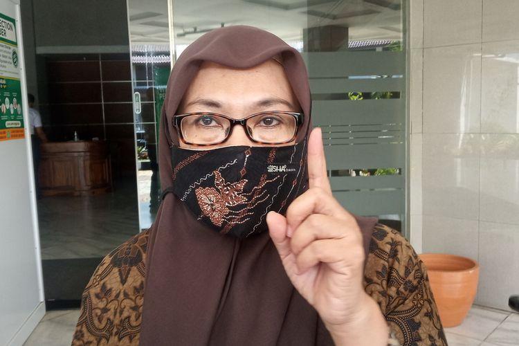 Juru Bicara Gugus Tugas Percepatan Penanganan Covid-19 Kabupaten Bogor, Syarifah Sofiah saat ditemui di Cibinong, Kabupaten Bogor, Jawa Barat.