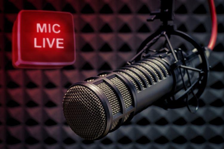 Ilustrasi siaran radio.