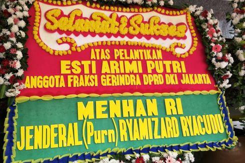 Pelantikan DPRD DKI, Ada Karangan Bunga Menhan untuk Anggota dari Gerindra