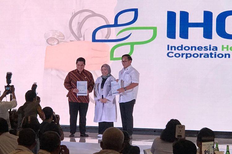 Menteri BUMN Erick Thohir saat menghadiri acara konsolidasi rumah sakit BUMN di Jakarta, Senin (10/2/2020).