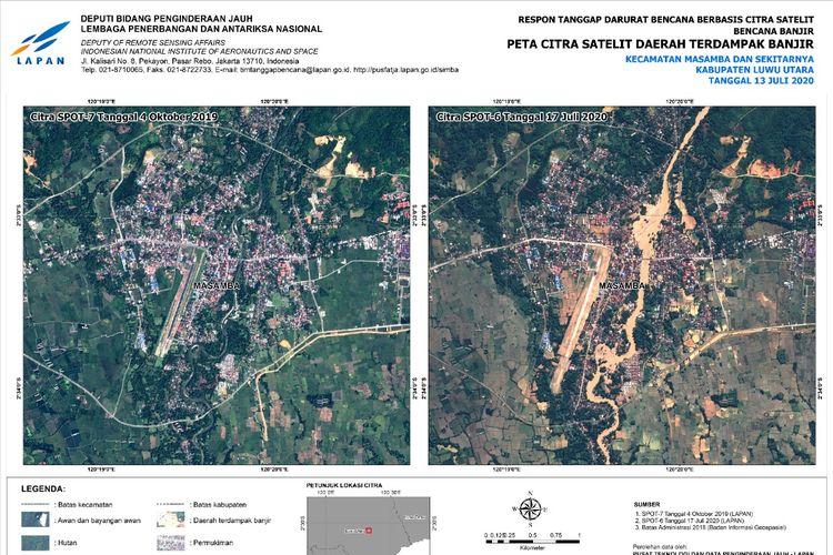 Potret Banjir Luwu Utara dari Pengamatan Citra Satelit