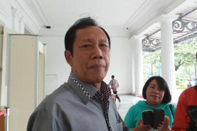 Mantan Gubernur DKI Jakarta Sutiyoso di Balaikota, Kamis (22/1/2015).