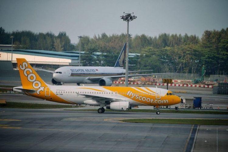 Pesawat Scoot dengan nomor penerbangan TR634 mendarat dengan selamat di Singapura setelah adanya ancaman bom