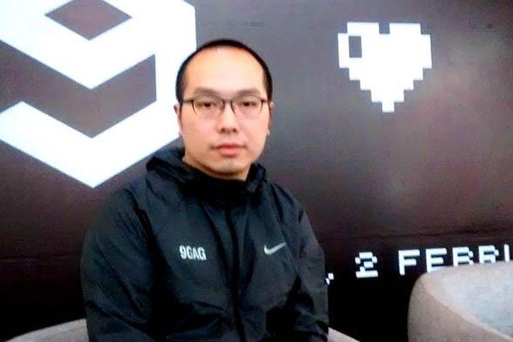 CEO situs guyonan 9GAG, Ray Chan saat ditemui KompasTekno di Jakarta, Senin (2/2/2015).