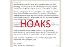 [HOAKS] Pesan Berantai soal Penculikan Anak di Surabaya