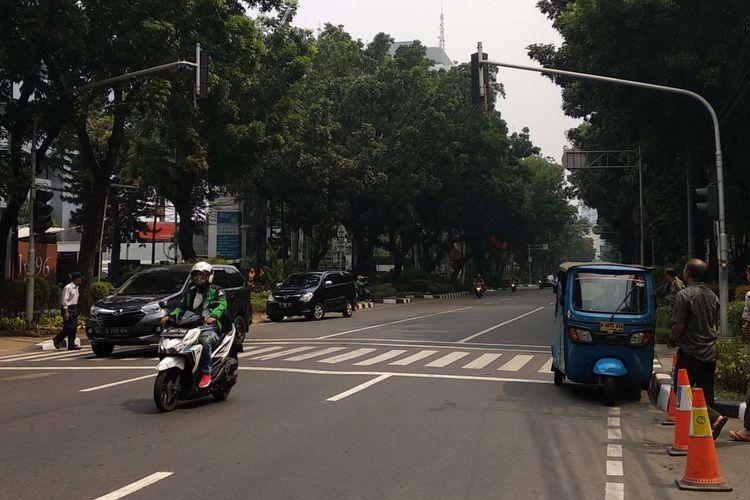 Pelican crossing di Jalan Kebon Sirih, Kamis (26/7/2018).