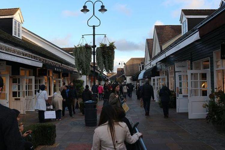 Bicester shopping village, salah satu tujuan wisata belanja di Inggris. Foto diambil pada 18 November 2016.