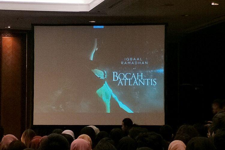Nama Iqbaal Ramadhan sebagai Bocah Atlantis muncul dalam Ideafest 2019 yang digelar di JCC, Senayan, Jakarta Pusat, Sabtu (5/10/2019).