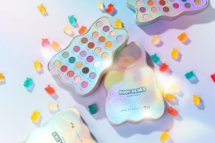 Dear Me Beauty x Yupi meluncurkan produk kecantikan Baby Bears Eyeshadow Palette.