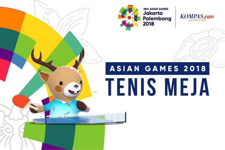 Cabang olahraga tenis meja Asian Games 2018.