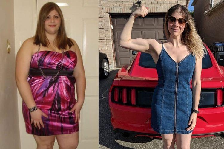 Transformasi berat badan Jessica Messina.