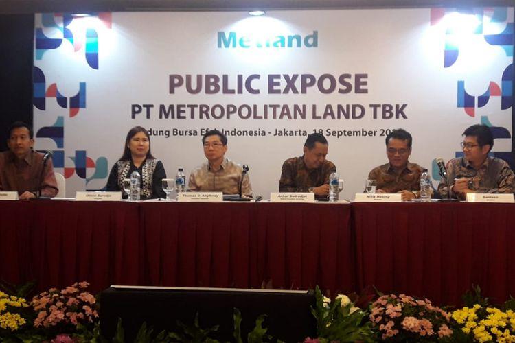 PT Metropolitan Land Tbk (Metland) menggelar public expose di Bursa Efek Indonesia, Rabu (18/9/2019).