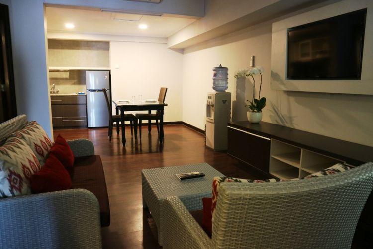 Salah satu ruangan apartmen style 2 bedroom suites di Prime Plaza Suite, Sanur, Bali.