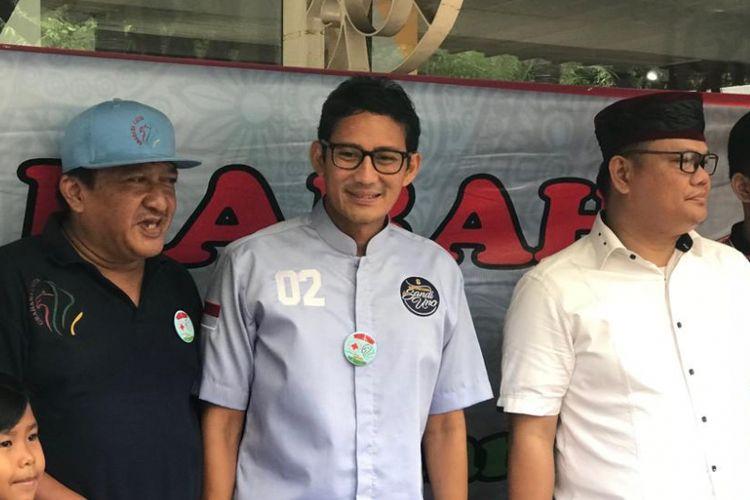 Calon wakil presiden nomor urut 02, Sandiaga Uno, saat ditemui di Rumah Djoeang, Jakarta Selatan, Minggu (23/12/2018).